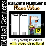 Digital Centers - Place Value ( Google Classroom & One Drive - Drag and Drop )