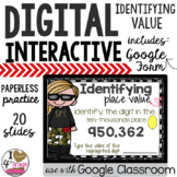 Google Classroom Place Value Identify Value