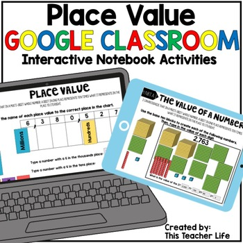 Google Classroom Place Value Interactive Notebook