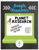 Distance Learning on Google Classroom- Planet Research