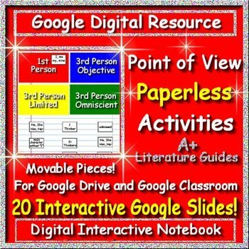 Google Classroom Point of View Paperless Activities Digital Interactive Notebook