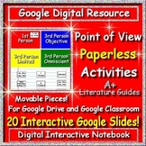 Google Slides Interactive Notebook - Point of View for Google Classroom