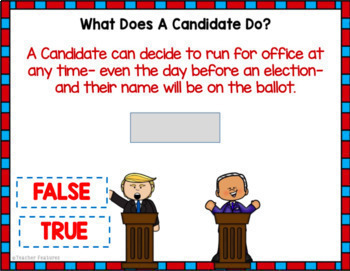 Google Classroom Presidential Election Day (Informational Text & Quiz)