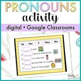 Google Classroom™ Pronouns Activity Digital - Distance Learning