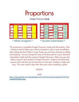 Google Classroom: Proprotions