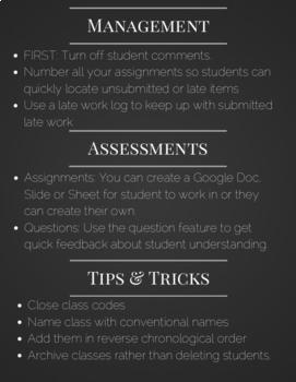 Google Classroom Quick Guide
