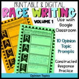 Google Classroom RACE Writing Prompts- Distance Learning (