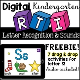 Digital RTI Letter Recognition / Sounds ( Google Classroom, Kindergarten)