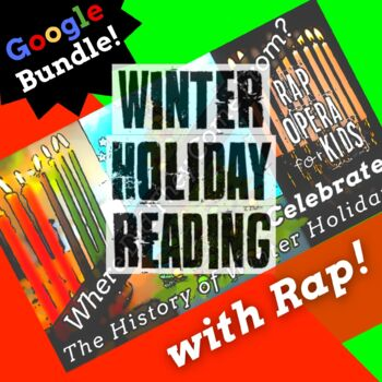 Google Classroom Reading Comprehension Activities Using Winter Holidays Rap Song