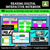 Google Classroom Reading Digital Notebook Activities for Any Short Story & Novel