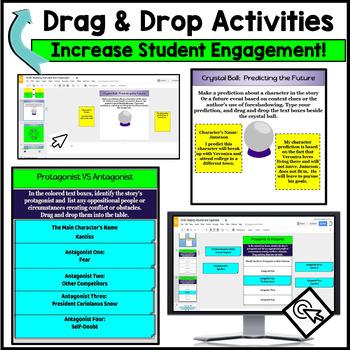 Google Classroom Reading Digital Notebook Activities for Any Short Story & Novel