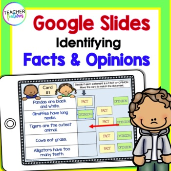 Paperless Digital Task Cards Reading and Identifying Fact & Opinion Statements