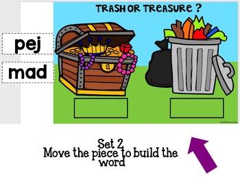 Google Classroom Reading Nonsense Words-Trash or Treasure