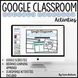 Google Classroom Reading Response Activities for Distance