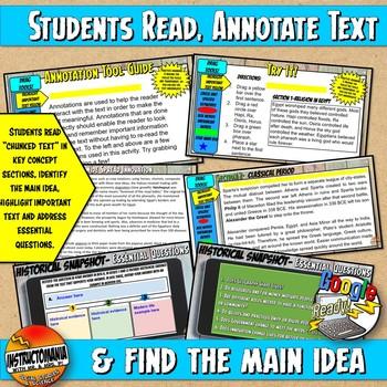 Google Classroom Enlightenment Historical Snapshot Interactive Reading & Quiz