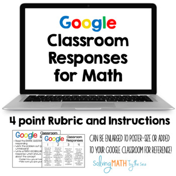 Google Classroom Response Instructions and Rubric for Math