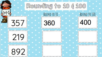 Google Classroom Rounding to 10's and 100's