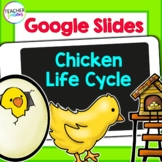 Google Classroom First Grade Science CHICKEN LIFE CYCLE Flip Book & Activities