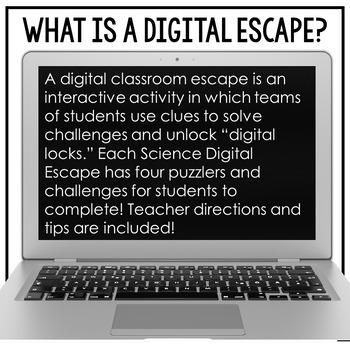 Google Classroom Science Digital Escape | Renewable and Nonrenewable Resources