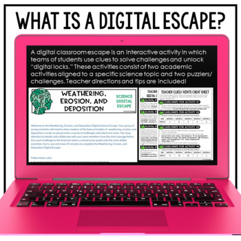 Google Classroom Science Digital Escape Room Weathering Erosion and Deposition