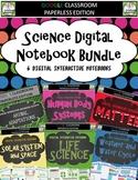 Google Classroom Science Digital Notebook Bundle - Distanc