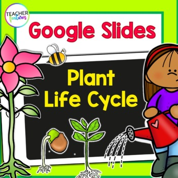 Plant Life Cycle Paperless Flip Book for Google Classroom Science
