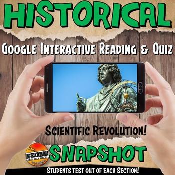 Google Classroom Activity Scientific Revolution History Snapshot Reading & Quiz