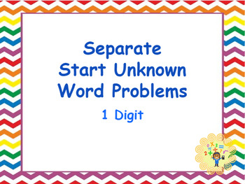 Google Classroom: Separate Start Unknow Word Problems