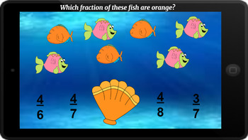 Google Classroom: Sets of Fractions- Fish Theme