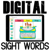 Google Classroom™ Activities - Sight Words Activities for Kindergarten
