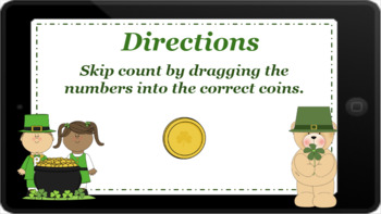 Google Classroom: Skip Counting by 10's- St. Patrick's Day