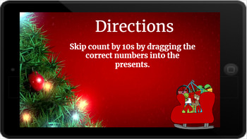 Google Classroom: Skip Counting by 10s (2 Digit)- Christmas