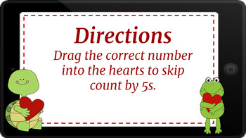 Google Classroom: Skip Counting by 5s- Valentines Theme