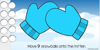 Google Classroom Snowballs on a Mitten Winter Math Centers