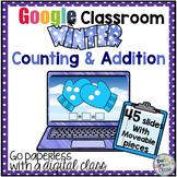 Google Classroom Snowballs on a Mitten Winter Math Centers Distance Learning