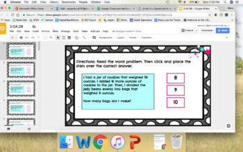3.OA.D8 Google Classroom Solve Using the 4 Operations