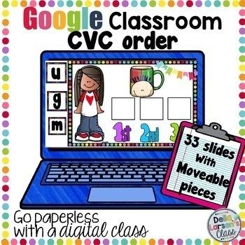Google Classroom CVC words spelling