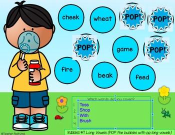 Digital Task Cards for Google Classroom ELA: Spelling Sounds & Patterns