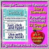 Google Slides Interactive Notebook - Literary Elements for Any Novel Short Story