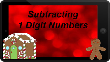 Google Classroom: Subtracting 1 Digit- Christmas