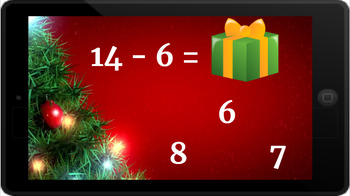 Google Classroom: Subtracting 1 Digit Numbers- Christmas
