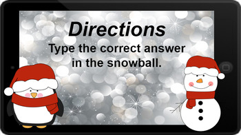 Google Classroom: Subtracting 1- Winter Theme