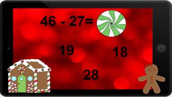 Google Classroom: Subtracting 2 Digit (Regrouping) - Christmas