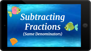 Google Classroom: Subtracting Fractions with Like Denominators