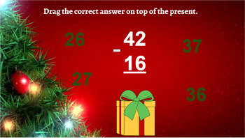 Google Classroom: Subtraction 2 Digit (Regrouping) - Christmas