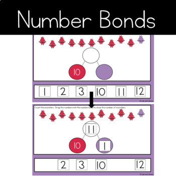 Google Classroom Teen Number Bundle: Ten Frames, Number Bonds, and Expressions