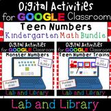 Google Classroom Teen Number Bundle: Ten Frames, Number Bo