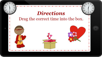 Google Classroom: Telling Time- Half Hour- Valentine's Day