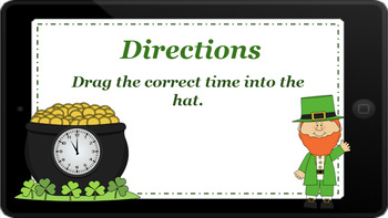 Google Classroom: Telling Time- Quarter to and past- St. Patrick's Day