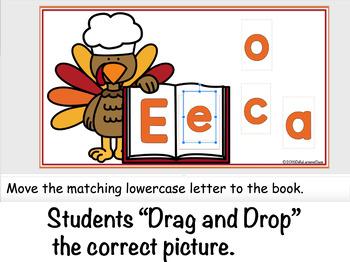 Google Classroom Thanksgiving Turkey Alphabet Match